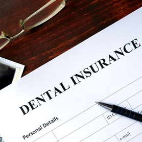 Insurance paperwork for the cost of dentures in Crystal River